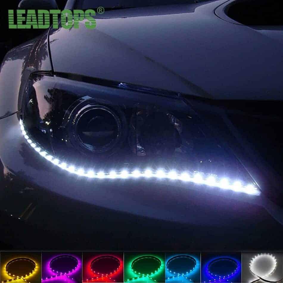 LED dnevne avtomobilske luči samolepilne vpogljive 30cm 1