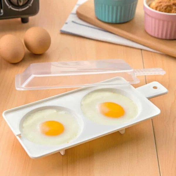 Peka jajc v mikrovalovki z Jajcopekom