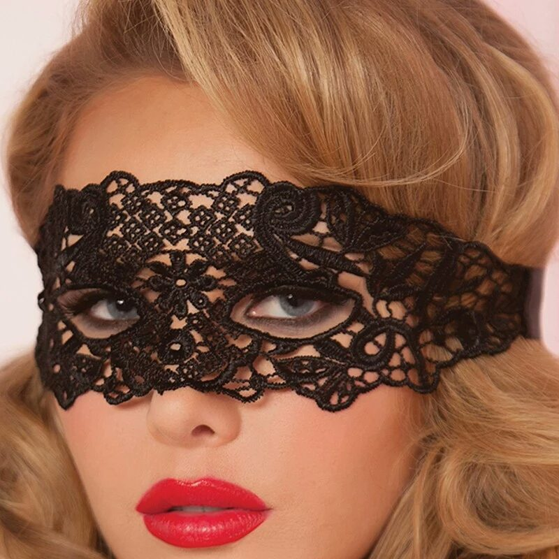 Čipkasta maska za oči