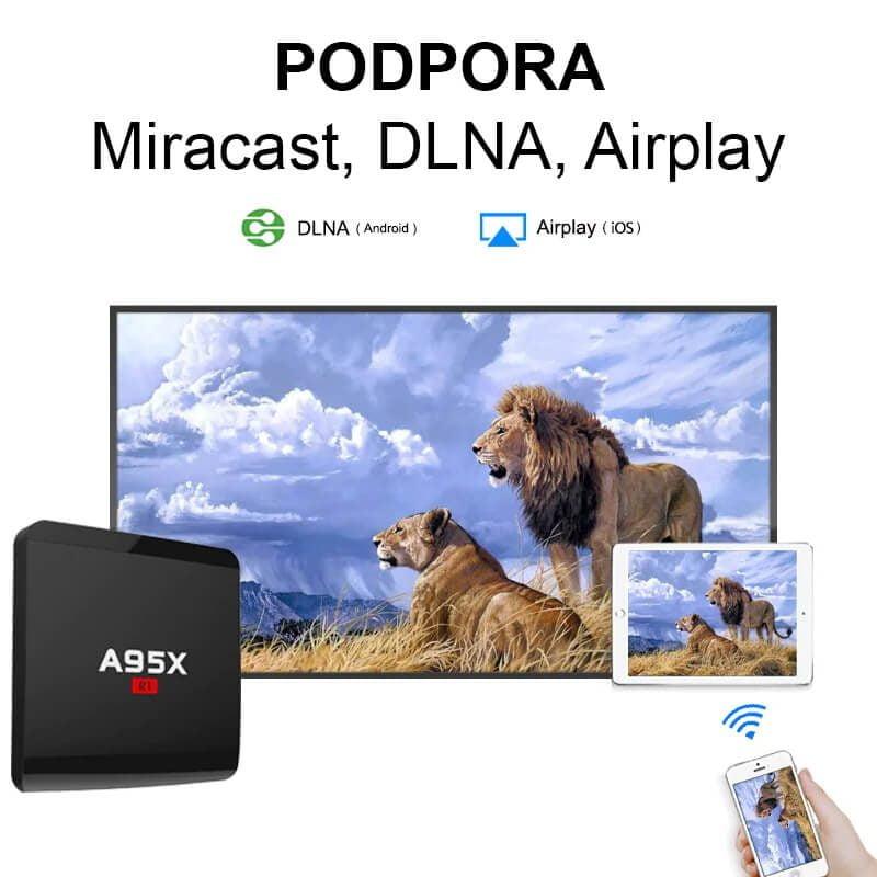 Digitalni predvajalnik A95X R1 podpira