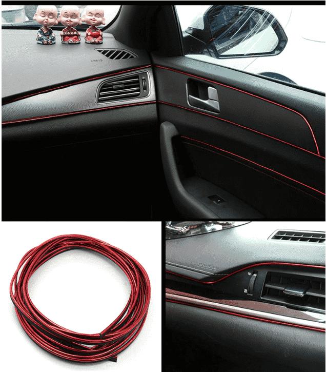 Avto notranja dekoracija metalik-rdeča 4.5m