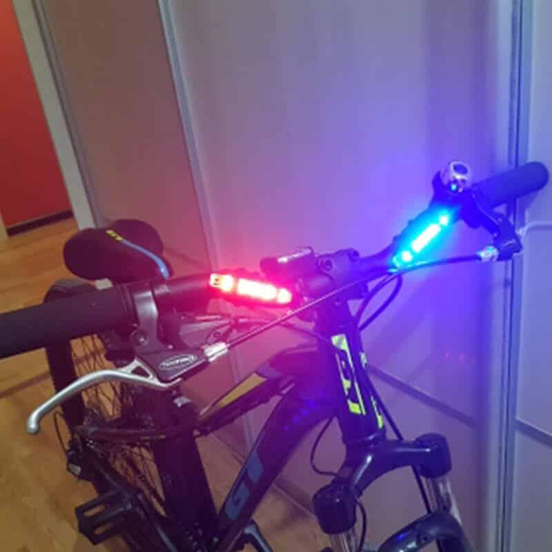 led rdeča luč za kolo