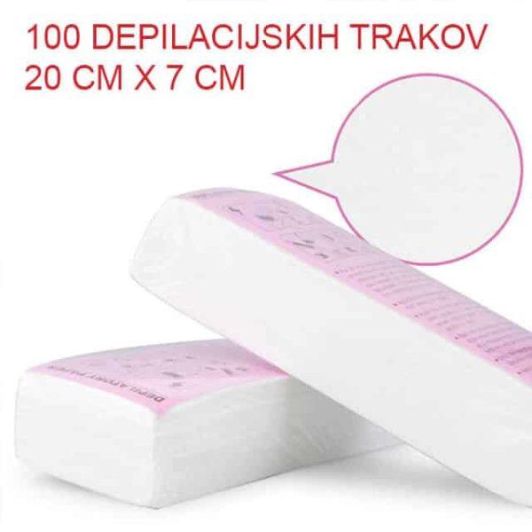 depilacijski trakovi bele barve