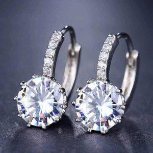 kristalni uhani srebrni