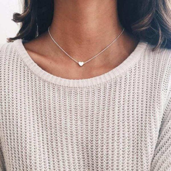 srebrna verižica s srcem srebrna