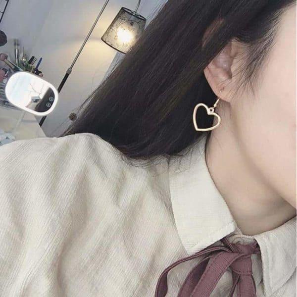 srebrni uhani srce poceni