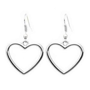 uhani srebrni srce