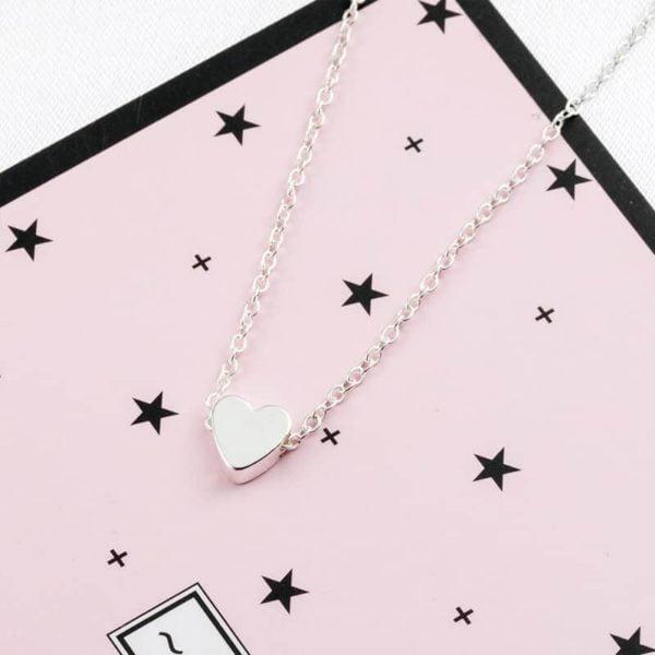 verižica s srcem srebrna
