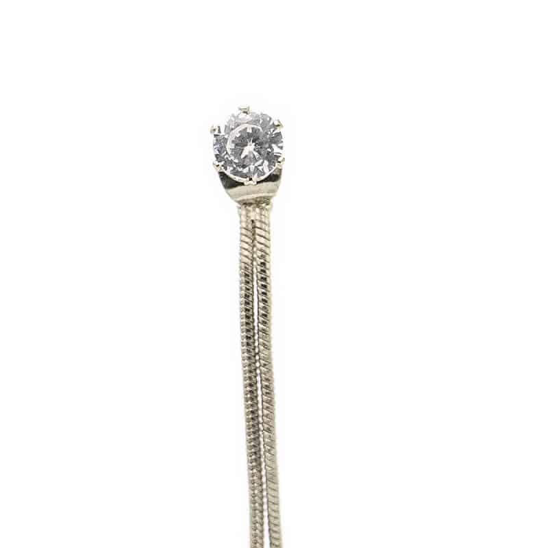 zlati uhani z diamantom viseči poceni