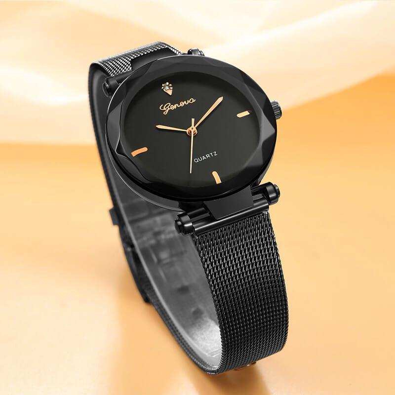 ženske ure črno zlate baarve
