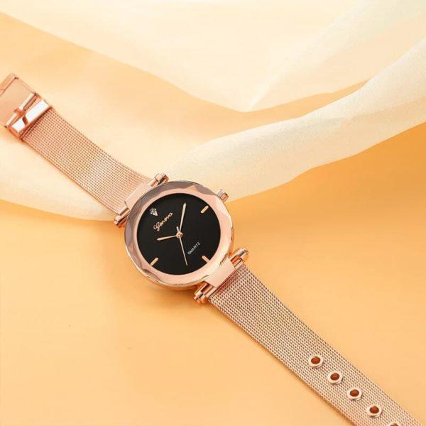 ženske ure rose zlato črne barve