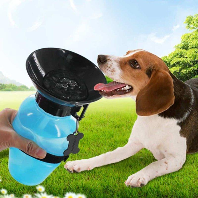 Prenosna flaška za vodo za pse 500ml - Tehnika stiskanja 1