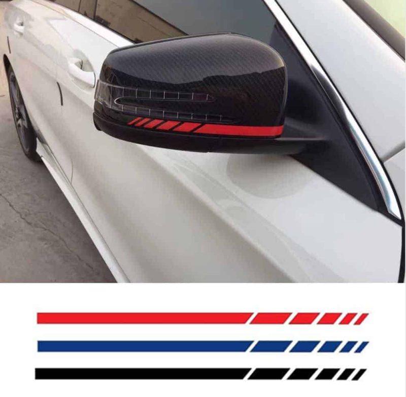 Nalepka za ogledala in ostale dele na avtomobilu – 4 BARVE 1