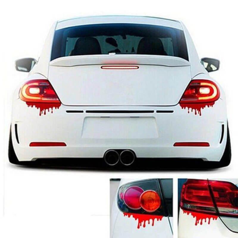 Nalepka za avtomobil v obliki krvnega madeža