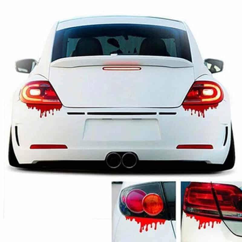 Nalepke za avto v obliki krvnih madežev 2