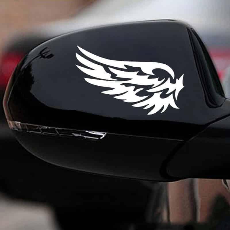 Nalepke za avto v obliki kril