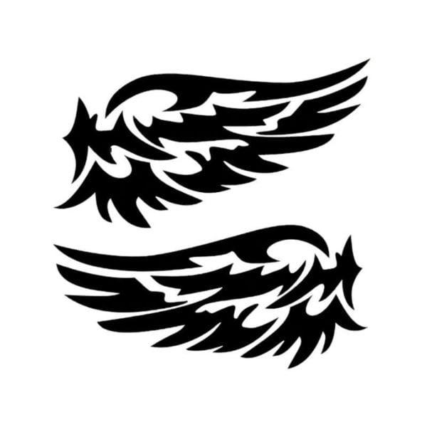 Nalepke za avto v obliki angelskih kril - Črna / bela 1