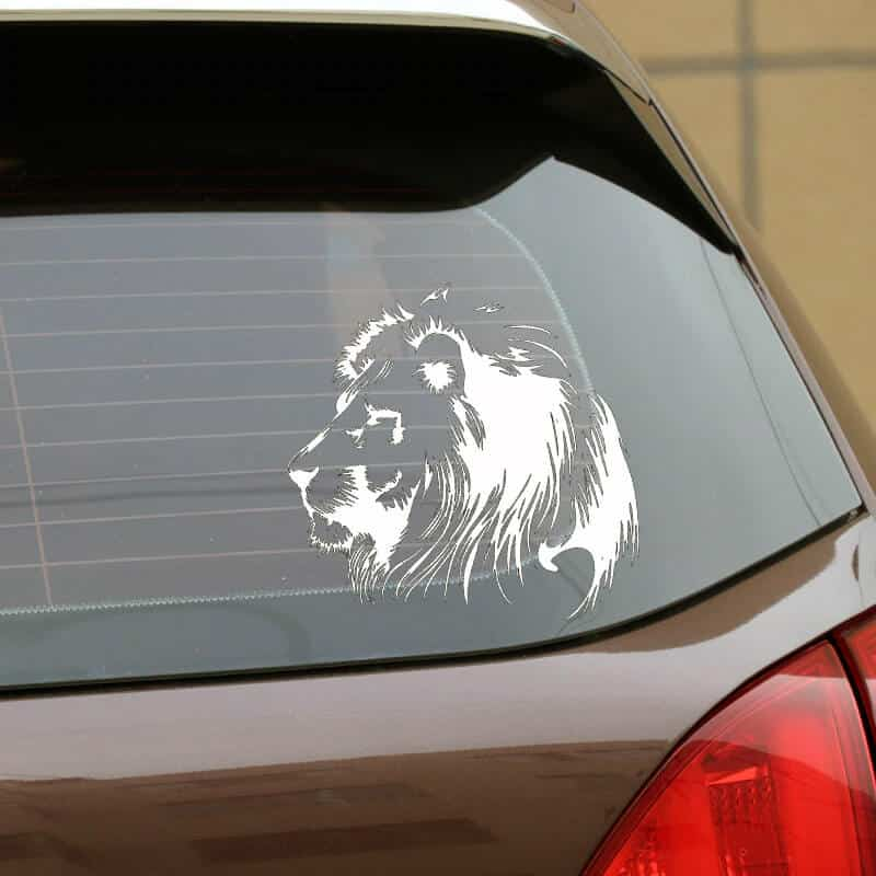 lev nalepka za avtomobile