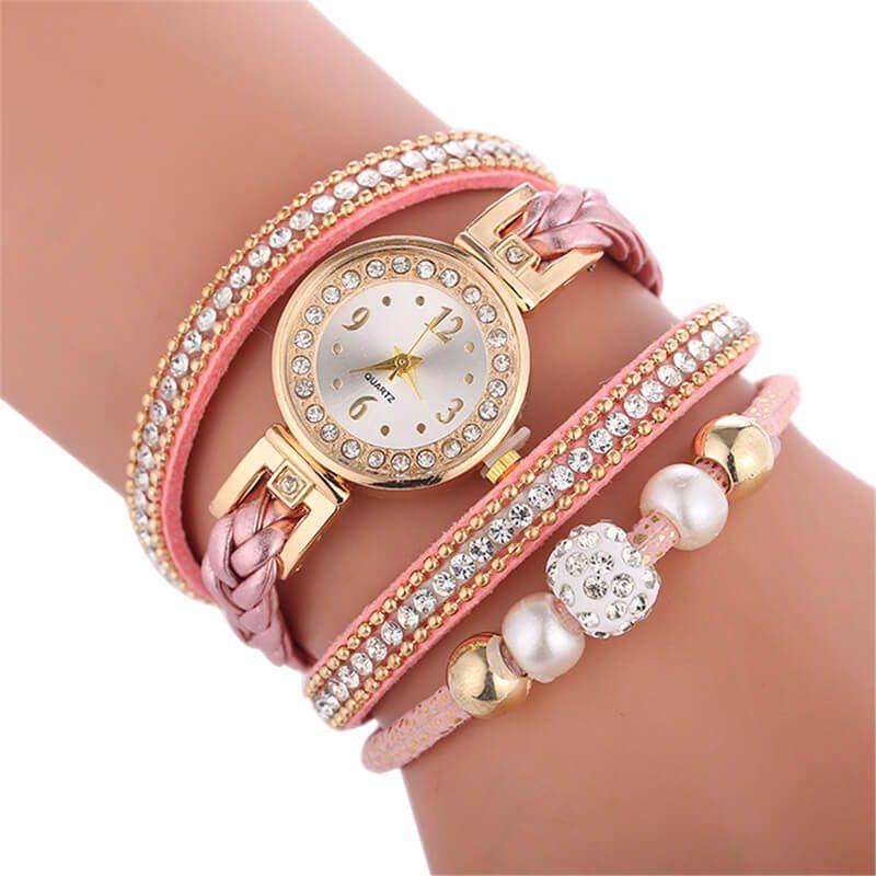 modna ura z biserčki