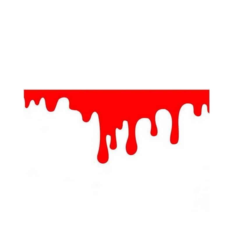 Nalepke za avto v obliki krvnih madežev 3