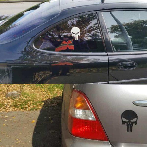 nalepka za avto lobanja
