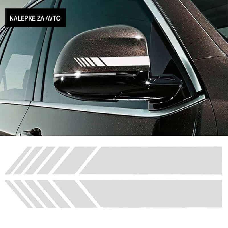 Nalepka za sprednje ogledalo na avtu - 3 barve 2