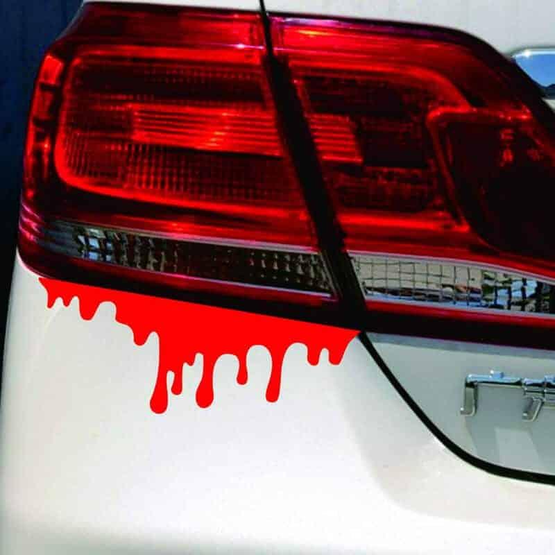 Nalepke za avto v obliki krvnih madežev 1