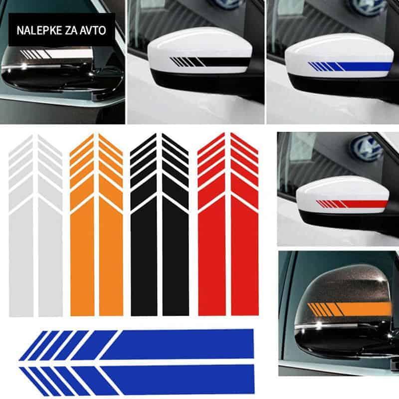 Nalepka za sprednje ogledalo na avtu - 3 barve 3