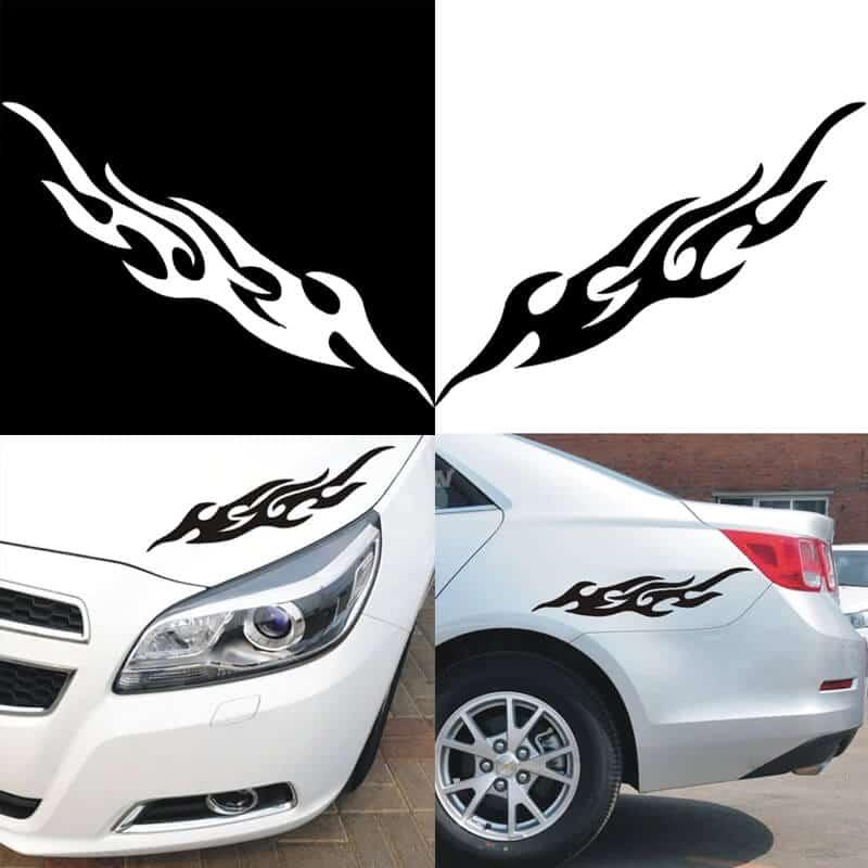 Nalepke za avto in motor - vinilske | Črna in Bela barva 1