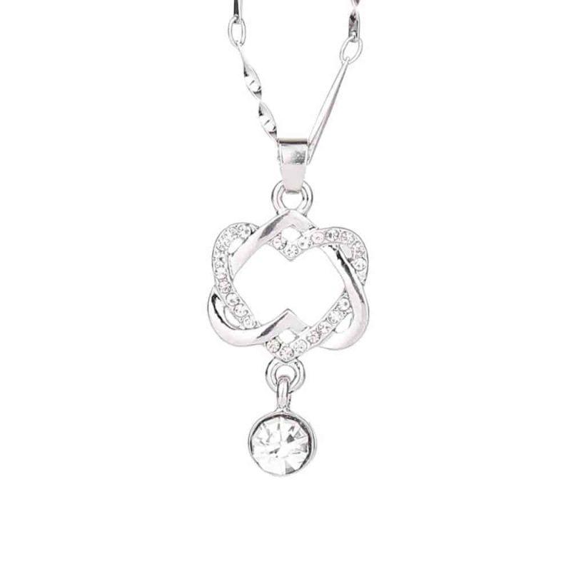 Ženska verižica dvojno srce