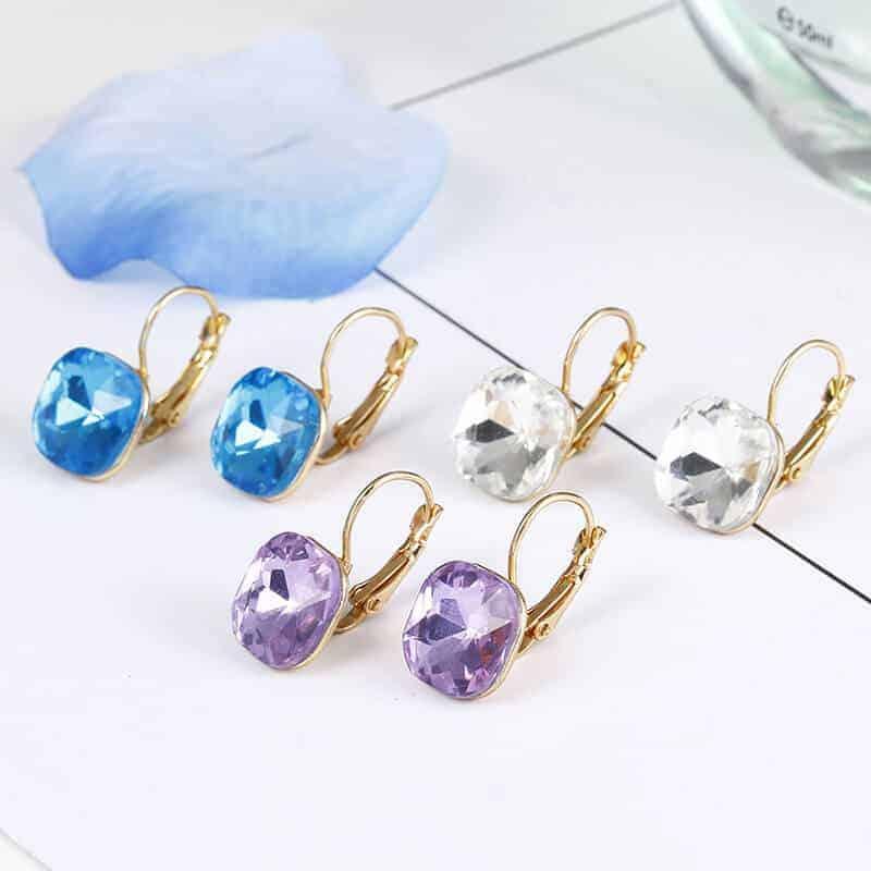 Prelepi kristalni uhani za ženske