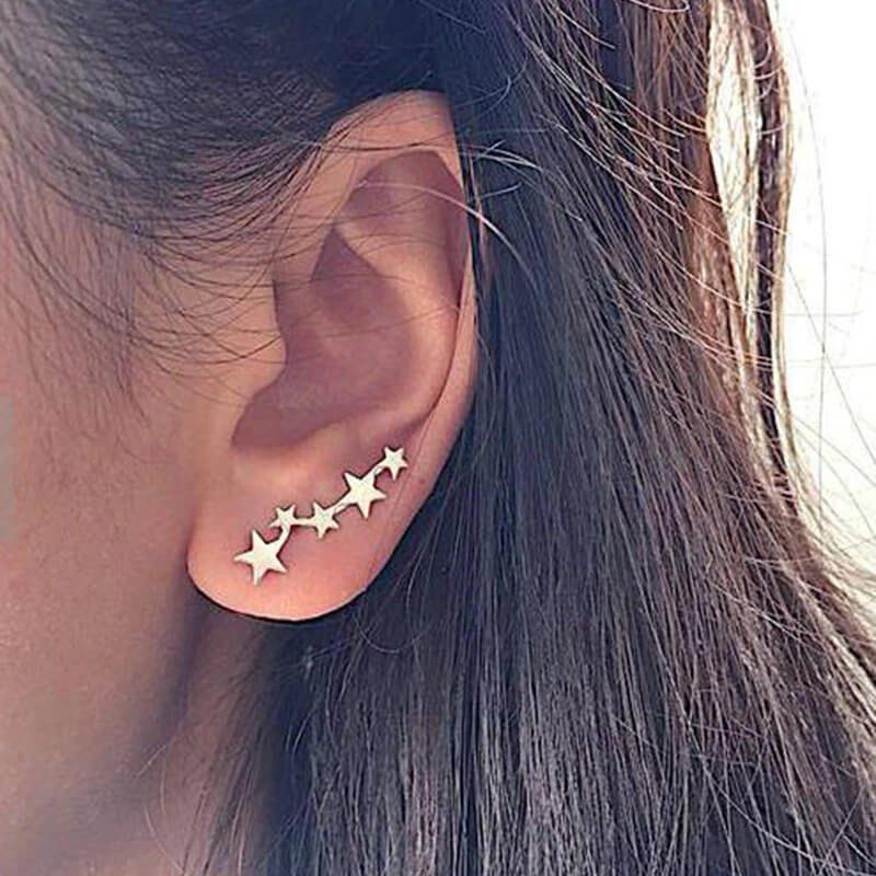 Srebrni uhani z zvezdicami