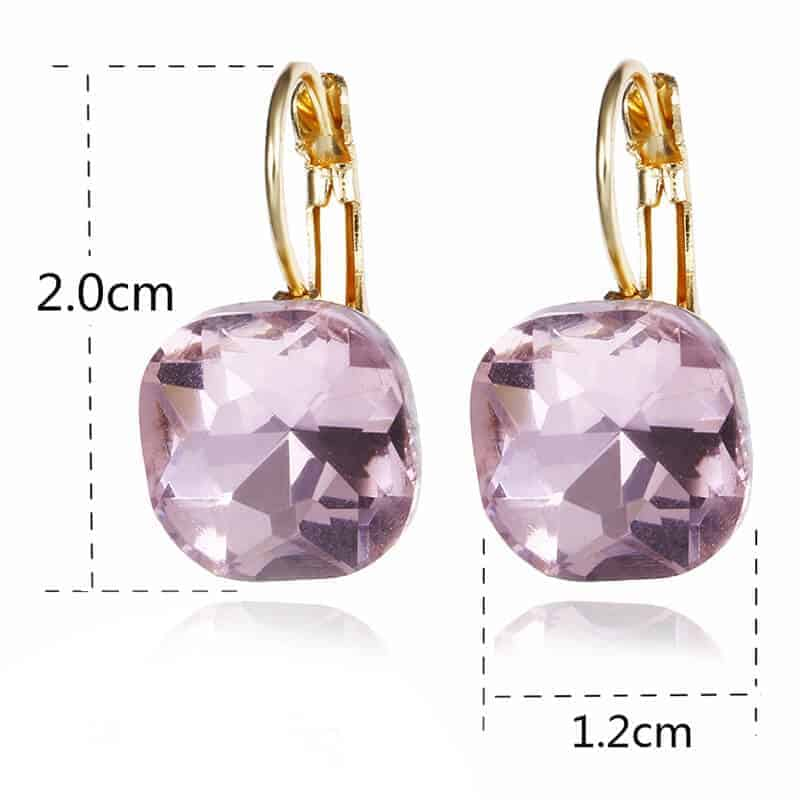 kristalni uhani velikost