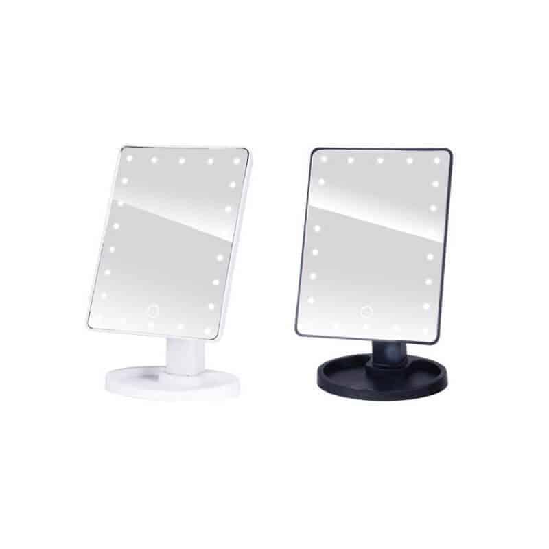 Profesionalno ogledalo z led lučkami na dotik - 22 led luči - Bela barva 3
