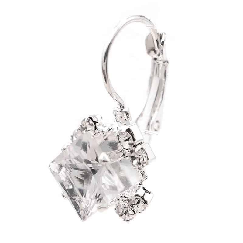 poceni uhani srebrni s kristalom