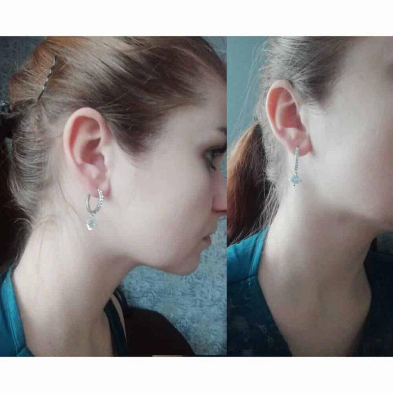 srebrni uhani s kristalom in dodanimi diamanti