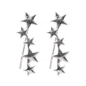 uhani modni srebrni zvezdice