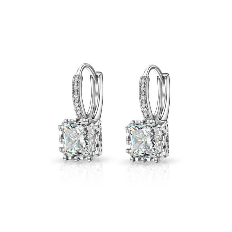 uhani srebrni kristalni za vse priložnosti