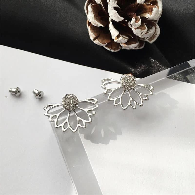 uhani srebrni s diamanti modni