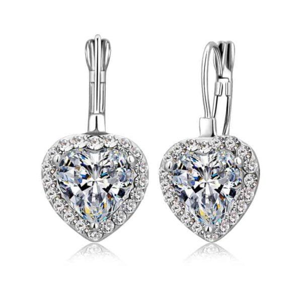 uhani srebrni s kristalnim srcem