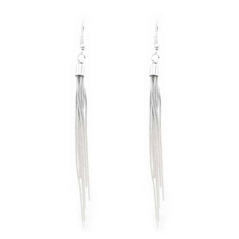 uhani srebrni viseči nakitko poceni