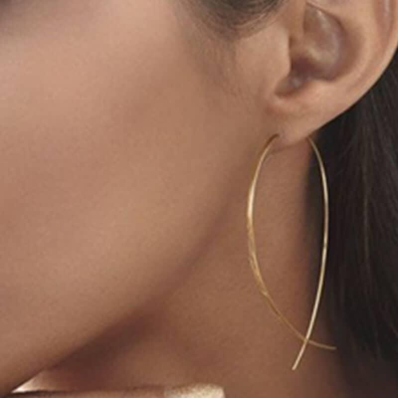 uhani zlati v obliki ribe