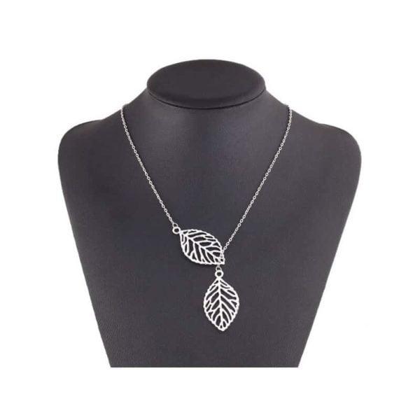 verižice srebrne z vzorcem listja