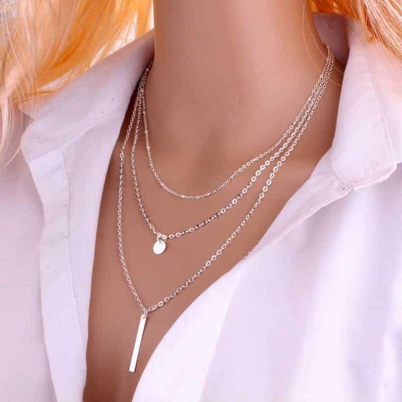 Prekrasna verižica, ki poudarja lepoto ženskega telesa - srebrna barva 1