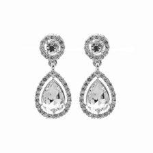 viseči uhani srebrne barve za poroke (1)