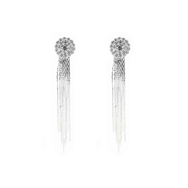 viseči uhani z velikimi diamanti za ženske