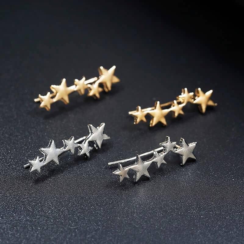 Uhani srebrne zvezdice 4