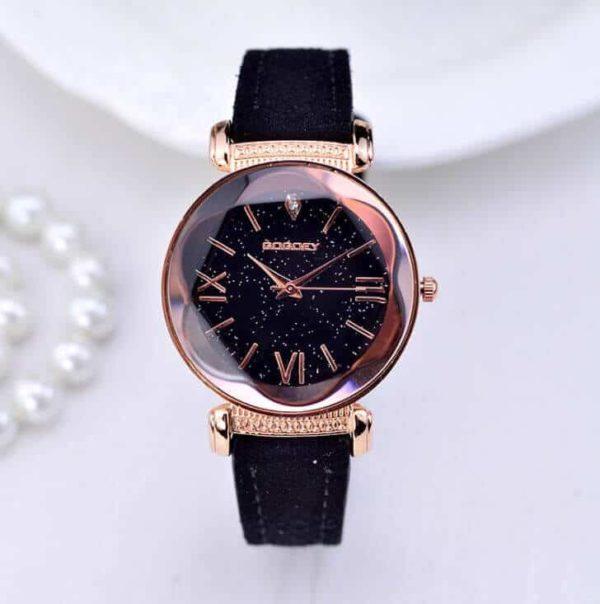 ženska ročna ura črne barve