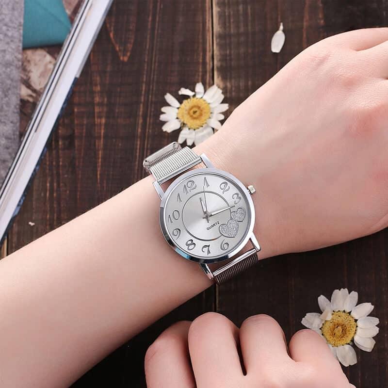 Ročna ura - srebrne barve 7