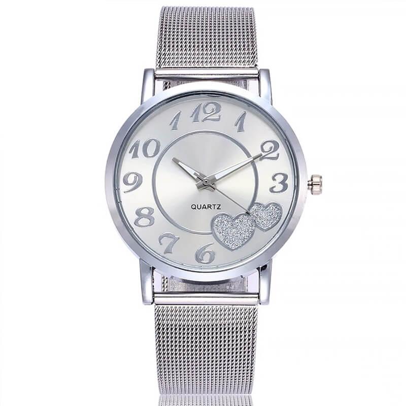 Ročna ura - srebrne barve 5